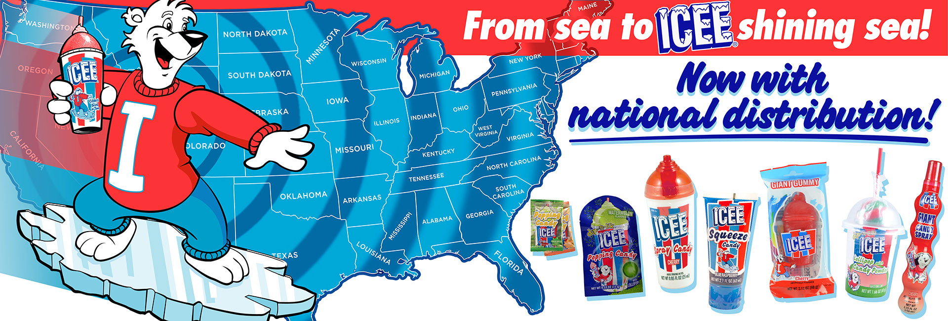 No territory restrictions anymore with ICEE!